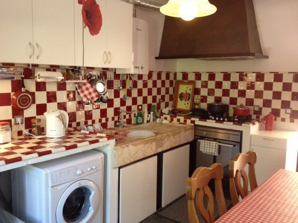 the kitchen in 2015 after decorating