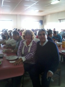 Mum with Fernando Campos, who is the Commander of the Bomberios