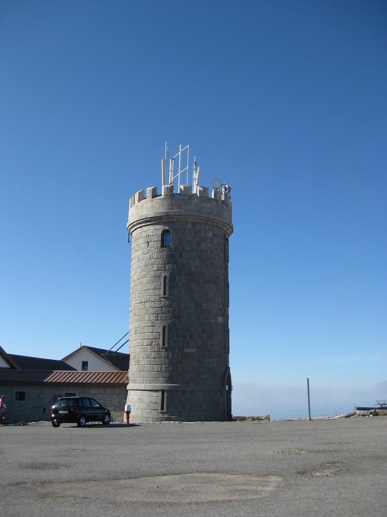 The Torre on top of the Serra da Estrela mountain range in Portugal