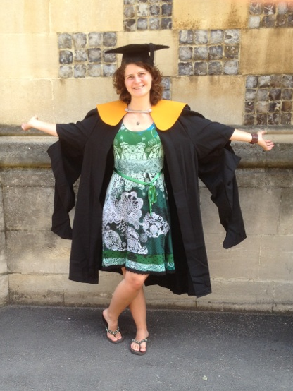 Laura in her graduation gown