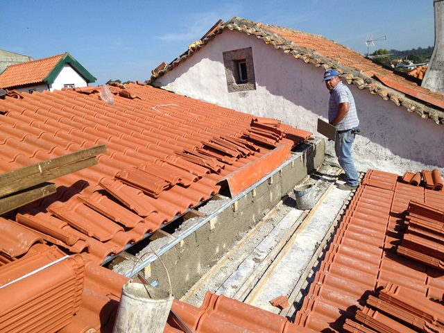 New roof tiles going on