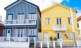 The colourful houses in Costa Nova